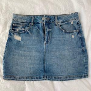 NWOT Garage High-Waisted Denim Skirt